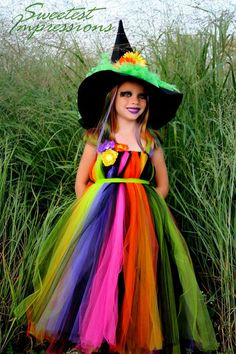 Halloween Witch Costume Tutu Dress Costume by AllDressedUpCouture