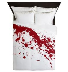Red Blood Splatter Queen Duvet Cover