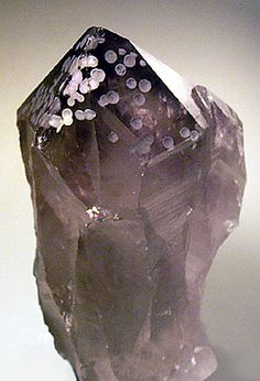 Amethyst with unusual spherical inclusions