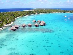 Hotel Kia Ora in Rangiroa from a kite by Pierre Lesage, via Flickr