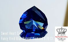 The @exyroyaljewellery  Fancy Vivid Blue  Sweet Heart Diamond 8.70 Ct.  Estimated 1.5 million $ Price Per Carat. Only one in 10,000 diamonds has a fancy color.