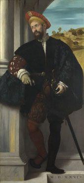 Moretto da Brescia | Portrait of a Man | NG1025 | The National Gallery, London, 1526, portrait is probably of Gerolamo Avogadro (d.1534)