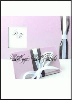 Двуцветна сватбена покана в розово 3036