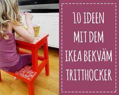 Den Bekväm Hocker für die Kinder pimpen oder umnutzen. Hier findest du tolle Ideen für dein IKEA Kinderzimmer. Er kann super als Nachtisch, Spieltisch usw. für Kinder genutzt werden. Pimp your IKEA furniture!
