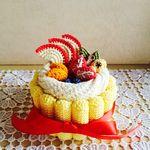 フルーツシャルロットケーキの小物入れ