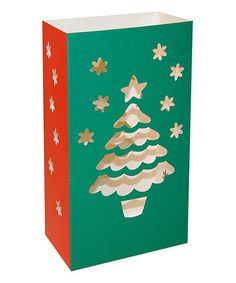 Look at this #zulilyfind! Flame Resistant Paperboard Lanterns- Christmas Tree- 24 Count #zulilyfinds