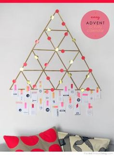 Countdown to Christmas with these 12 DIY advent calendars!: DIY Popsicle Stick Advent Calendar