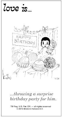 Pensamentos, Citações e Coisas do Género... Thoughts, Quotes and Those Sort of Things...: Amor é... organizar uma festa de aniversário surpr...
