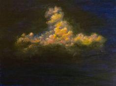 """Saatchi Art Artist Klaudija Cermak; Painting, """"Tolstoy's Family Of Serene Clouds In Miniature"""" #art"""