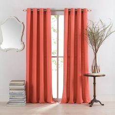 Quality Cotton and Linen Blend Fabric Modern Coral Curtains. Brighten the room with these coral curtains in living room or bedroom. Made from blend fabric contains cotton and linen contents. Coral Curtains, Modern Curtains, Drapes Curtains, Curtain Panels, Contemporary Curtains, Drapery, Custom Drapes, My New Room, Bedding Shop