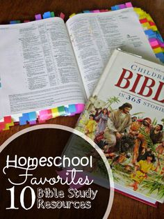 Family Bible Study resources - our favorite books and materials for teaching children about faith.
