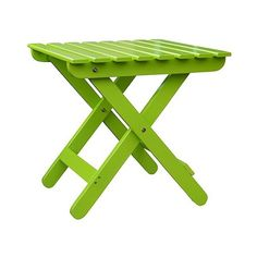 Adirondack Folding Table (215 BRL) ❤ liked on Polyvore featuring home, outdoors, patio furniture, outdoor tables, green, outside patio furniture, outdoor table, green patio furniture, outdoor garden table and folding table