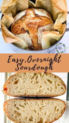 Overnight Sourdough Bread Recipe, Artisan Sourdough Bread Recipe, Sourdough Recipes, Artisan Bread, Sourdough Baguette Recipe, Recipes With Yeast, Yeast Bread Recipes, Fun Baking Recipes, Cooking Recipes