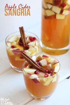 Apple Cider Sangria from Lexiscleankitchen.com