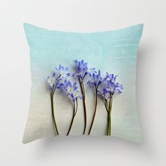 simple elegance Throw #Pillow by Sylvia Cook Photography - $20.00 #homedecor #floral #flowers #blue