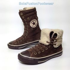 ee52552b8e2f Converse Womens All Star X Hi Trainers Brown Sz 6 Suede Shearling BOOTS US  8 39 for sale online