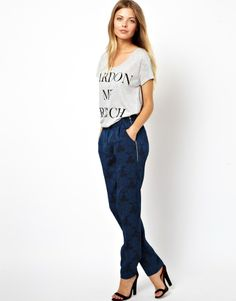 Asos Pant in Floral Jacquard with Zips on shopstyle.com