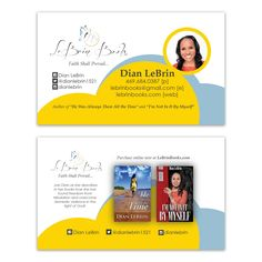 Business Card Design for Author Dian LeBrin, designed by Moksha Media - Daymond E. Lavine