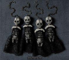 Shain Erin little gothic skeleton dolls