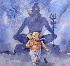 Ganesha Drawing, Lord Ganesha Paintings, Lord Shiva Painting, Ganesha Art, Shiva Art, Krishna Art, Hindu Art, Ganesh Chaturthi Images, Ganesha Pictures