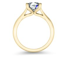Taper solitaire side view Brilliance.com with Canadian diamond