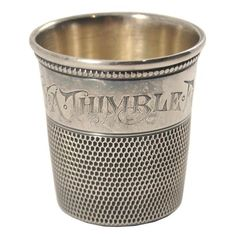 Pre-Prohibition Antique Sterling Silver, Late 1800s Thimble Jigger. Available at The Hour & TheHourShop.com ~ curated cocktail glass & barware for the modern home bar.