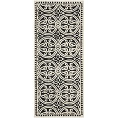 Safavieh Handmade Cambridge Moroccan Black Oriental Pattern Wool Rug