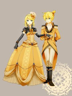 Rin and Len - Servant of Evil  Those cosplay goals I may never reach. Either one of these would do. I super mega love that dress!