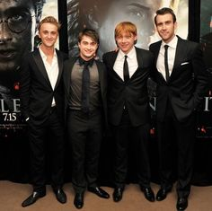 The classy main men of Harry Potter.