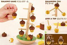 どんぐる?  An acorn balance game. Utilitarian cuteness? Okay.