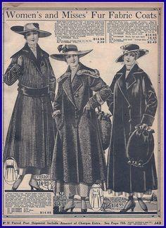 1916 Fur Fabric Coats, Sears