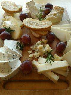 Estupenda tabla de quesos españoles