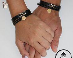 His and Hers Bracelet - Matching Bracelet - Couples Bracelet - Couples Leather Bracelet - Personalized Bracelet - Custom Bracelet - Engraving Bracelet - Infinity Bracelet - Wedding bracelets (*Amazon Partner-Link)