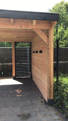 Veranda Pergola, Front Porch Pergola, Backyard Privacy, Backyard Landscaping, Pergola Plans, Pergola Ideas, Beautiful Home Gardens, Carport Designs, Diy Fence