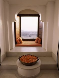 archway window seat Could be a cool built in bed