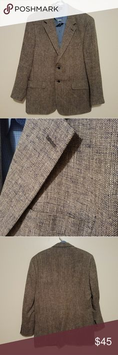 Savile Row 42L Gray Sports Coat 100%Silk One of my favourite jackets. Gently worn and well taken care of. No rips, tears, stains or other imperfections were found.  ***SHIRT NOT INCLUDED***  Measurements taken while laying flat: Size: 42L Color: Gray with a hint of blue Material: 100% Silk Chest (Underarm to Underarm): 23.5 Waist: 21.5 Length (From Bottom of Collar): 32.5 Sleeves (Top of shoulder to end of cuff): 26 Shoulders (Seam to seam): 19 Savile Row Suits & Blazers Sport Coats…