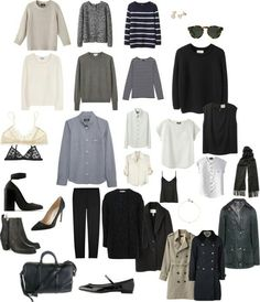 Color palette and capsule wardrobe, from wide eyed legless.