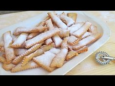 Chiacchiere Recipe - Laura in the Kitchen - Internet Cooking Show Starring Laura Vitale Italian Recipes, New Recipes, Cookie Recipes, Dessert Recipes, Favorite Recipes, Italian Desserts, Italian Pastries, Cookie Ideas, Baking Recipes