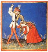 the four humours of Galen in a thirteenth century manuscript (ca. Yellow bile: A choleric individual was quick to anger, thin, energetic, arrogant, and intelligent. Medieval Books, Medieval Manuscript, Illumination Art, Medical Art, Vintage Medical, 15th Century, Humor, History, Medicine