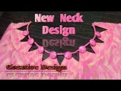 Hello Friends, Welcome to Creative Design, In today's video m gonna show you how to new neck design in very easy steps. Chudithar Neck Designs, Neck Designs For Suits, Blouse Back Neck Designs, Neckline Designs, Fancy Blouse Designs, Diy Clothes Tops, Gala Design, Blouse Designs Catalogue, Kids Dress Patterns
