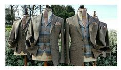Our Biscuit Donegal Tweed outfit shown with  matching Tweed waistcoat.  Available to Hire from our Formal Hire Department now.