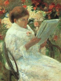 Woman Reading in a Garden - Art Institute of Chicago