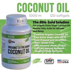 #1 Organic Extra Virgin Coconut Oil Capsules (Fast Energy* Helps Maintain Healthy Cholesterol Levels* and Burn Fat*) Raw Unrefined Cold Pressed Extract 100 Percent Pure Coconut Oil Pills 1000 Mg Softgels Diet Supplement to Maximize Performance, Healthy Heart, Body, Skin, Hair & Weight Loss - Fully Guaranteed - http://goodvibeorganics.com/1-organic-extra-virgin-coconut-oil-capsules-fast-energy-helps-maintain-healthy-cholesterol-levels-and-burn-fat-raw-unrefined-cold-presse