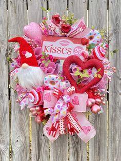 Valentine Day Wreaths, Valentine Decorations, Valentine Crafts, Holiday Wreaths, Turquoise Wreath, Pink Wreath, White Wreath, Wreaths For Front Door, Door Wreaths