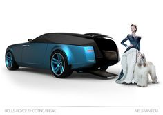 Rolls Royce car with Royal college of Art blue