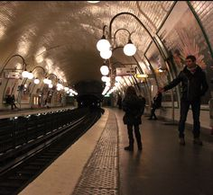paris metro station. even the subway is stylish.