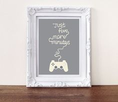 Just give more minutes.. Games room picture and frame! Brilliant for the boys room!