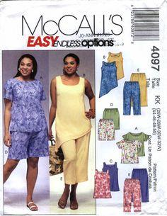 McCall's 4097 Women's Top, Tunics, Shorts and Capri Pants