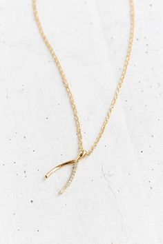 Urban Outfitters Wild Wishbone Necklace, $18