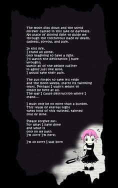 Crona's poem!!! Not entirely sure if its official, though, but if someone knows, please tell me!